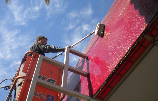 Wonderful Commercial Awning Cleaning